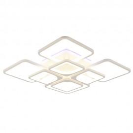 Светодиодная люстра 1537/4+4 WHT RGB с пультом управления