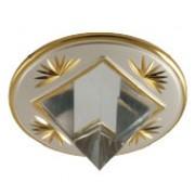 MS 16 A - Цвет основания/цвет стекла: PS/G (жемчужное серебро/золото)
