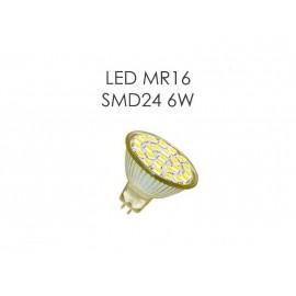 Светодиодная лампа LED MR16 SMD24 6W