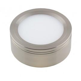 Светодиодная накладная панель DLS 06 6W (Сатин-никель)